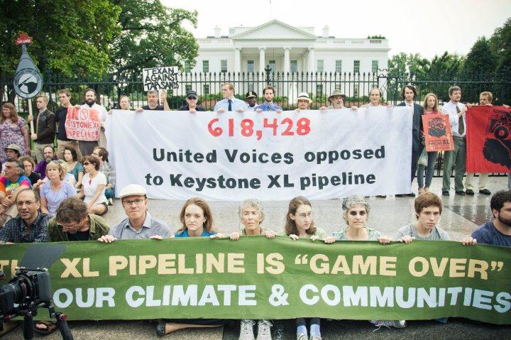 Protesting Keystone XL at the Whitehouse